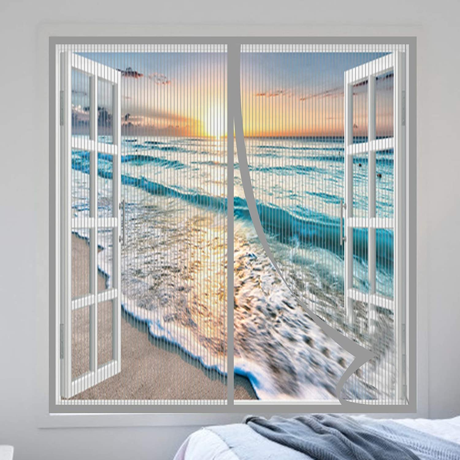 ! Super beauty product restock quality top! HAODELE Overseas parallel import regular item Fly Screen 100x120cm Closing Paste Curtains Magnets Stri