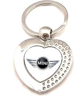 Portachiavi Zen in metallo argentato logo Mini Cooper