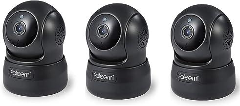 faleemi FSC776 HD Pan & Tilt Wireless WiFi IP Camera- Black (Single or Bundles) (3 Cameras)