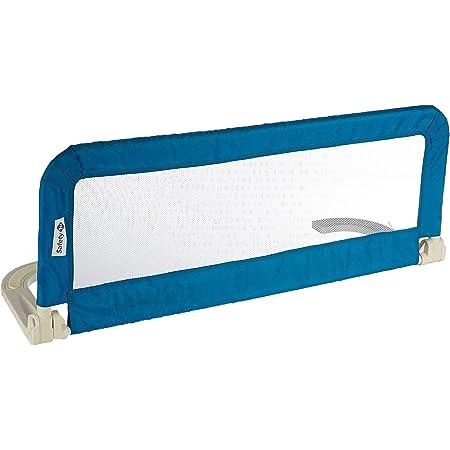 Safety 1st Barrera de cama portátil y extensible, Barandilla cama plegable de viaje, barrera de cama con protección anticaídas, color Azul