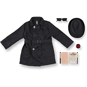 Melissa & Doug- Disfraz Spy Costume, Multicolor, One Size Fits All ...