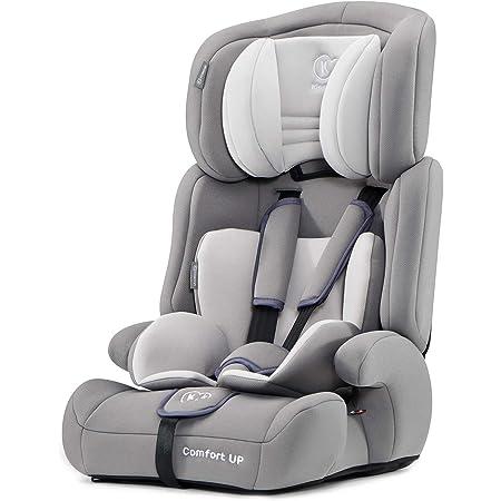 kk Kinderkraft Seggiolino Auto Comfort Up, Poggiatesta Regolabile, Cinture di Sicurezza, Gruppo 1/2/3, 9-36 Kg, Grigio