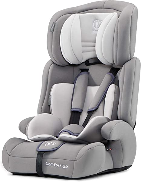 Kinderkraft Car Seat COMFORT UP, Booster Child Seat, with 5 Point Harness, Adjustable Headrest, for Toddlers, Infant, Group 1/2/3, 9-36 Kg, Up to 12 Years, Safety Certificate ECE R44/04, Gray: image