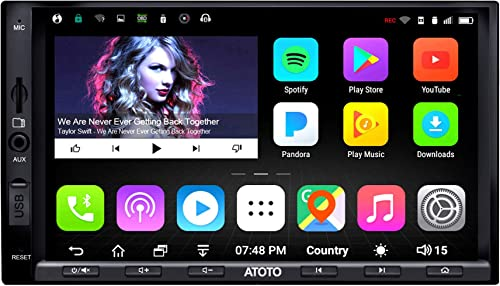 ATOTO A6 Double Din Android Car Navigation Stereo with Dual Bluetooth - Standard A6Y2710SB 1G/16G Car Entertainment M...