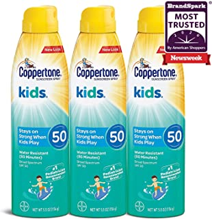 Sponsored Ad - Coppertone KIDS Sunscreen Continuous Spray SPF 50 (5.5 Ounce, Pack of 3)
