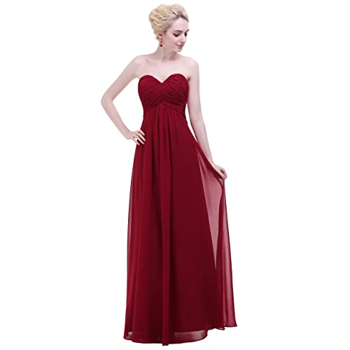 50c6c47e6b86 esvor Sweetheart Chiffon Party Prom Bridesmaid Dress Long Evening Gown