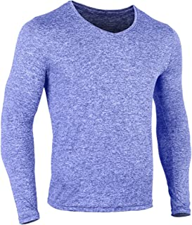 Mens Gym Slim Long Sleeve Bodybuilding Hoodies Sports Top Shirts Cotton and Spandex