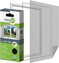 easy life Insectenhor voor ramen incl. klittenband 100 x 100 cm antraciet