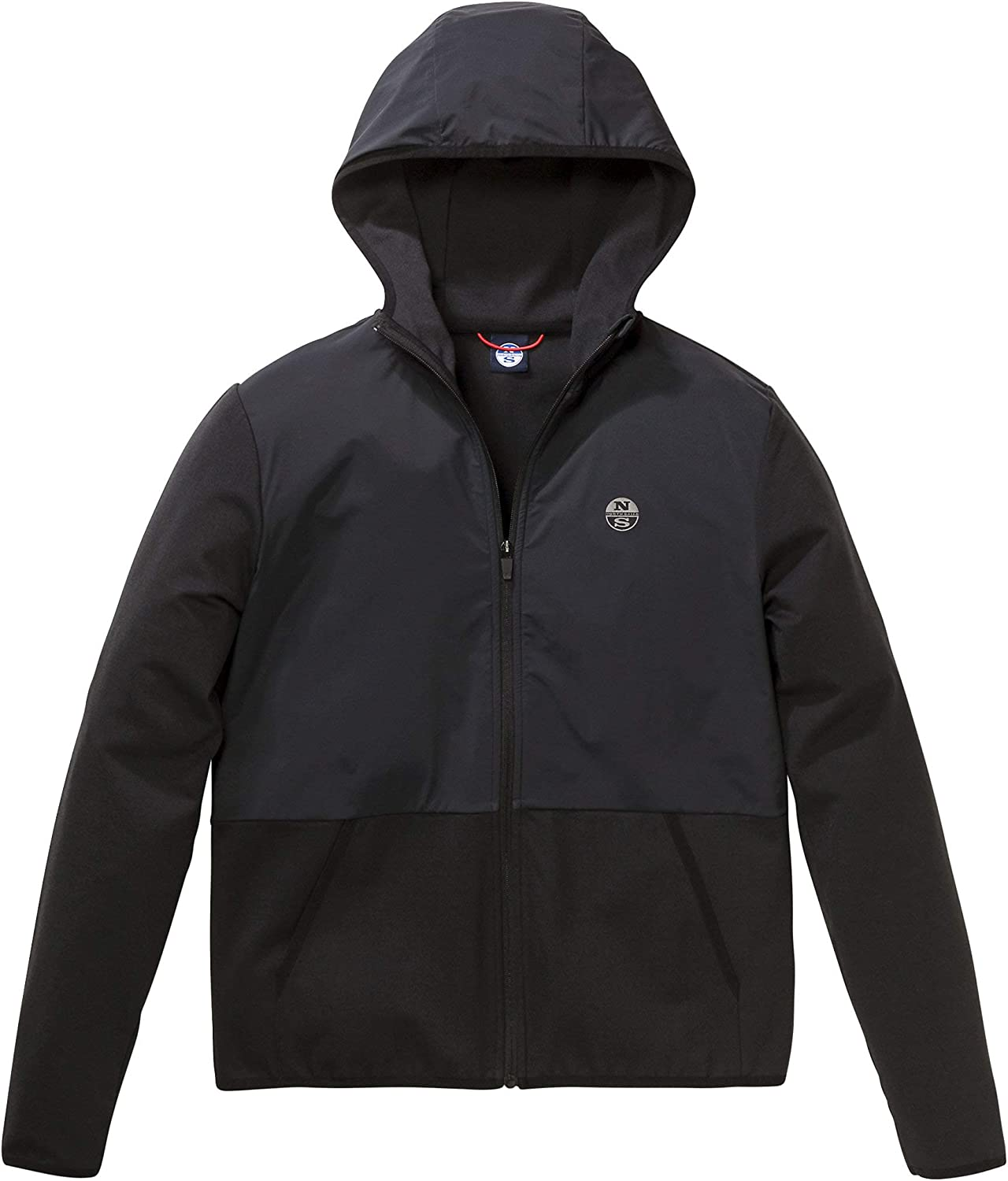 North Sails Men's Full Zip Hoodie with 2 Angle Front Pockets
