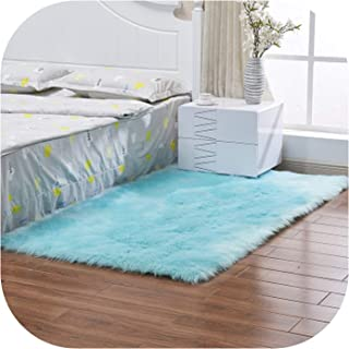 Heart to hear Carpet-Grey Chair Cover Warm Hairy Carpet Seat Pad Long Skin Fur Plain Fluffy Area Rugs Washable Square Colors,as picture4,60x180cm