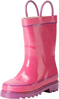 Western Chief Kids` Waterproof Rubber Classic Rain Boot with Pull Handles