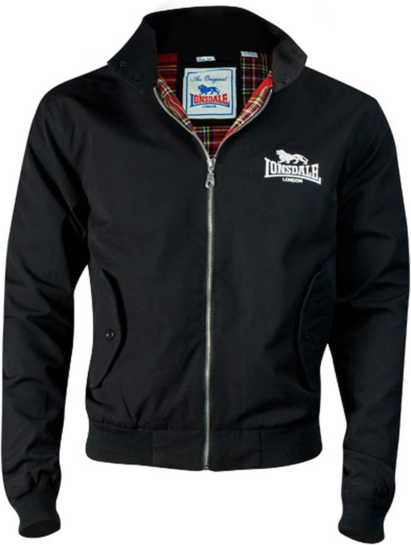 Lonsdale Men´s Slim-fit Embroided Logo Harrington Jacket Black