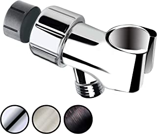 YOO.MEE Shower Arm Bracket for Handheld Shower Head, Adjustable Holder Mount, Chrome