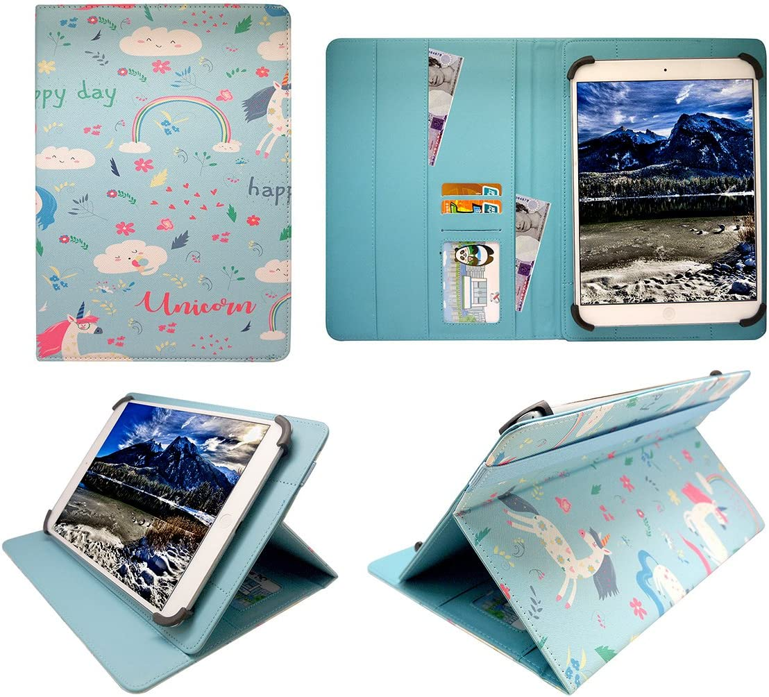 Sweet Tech Acer Iconia One 10 B3-A30 / B3-A40 10.1 Inch Tablet Unicorn Universal Wallet Case Cover Folio (10-11 inch)