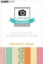 Kaisercraft Captured Moments Double-Sided Cards, 6 by 4-Inch, Pineapple Crush ,30-Pack