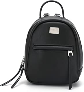 DAVIDJONES Women's Faux Leather Mini Cute School Backpack