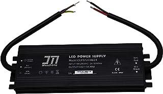 JMWaaBong Power Supply 24VDC 5A 120W Waterproof IP67 Outdoor Aluminum 18mm Slim 110V 120V 24V Converter Constant Voltage f...
