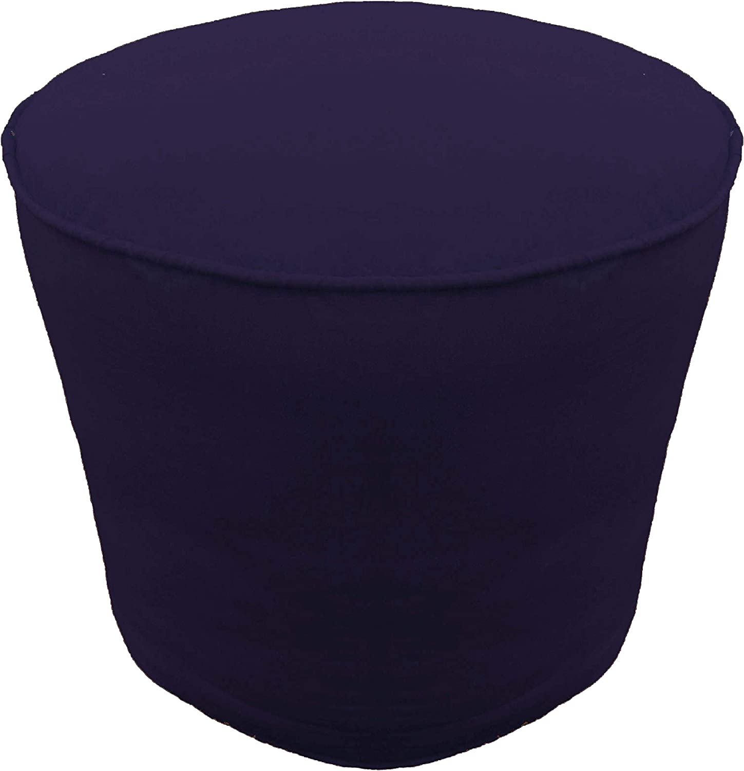 Footstool Round Max 86% OFF Pouf Cover with OFFer Ottoman Cotton Navy Piping