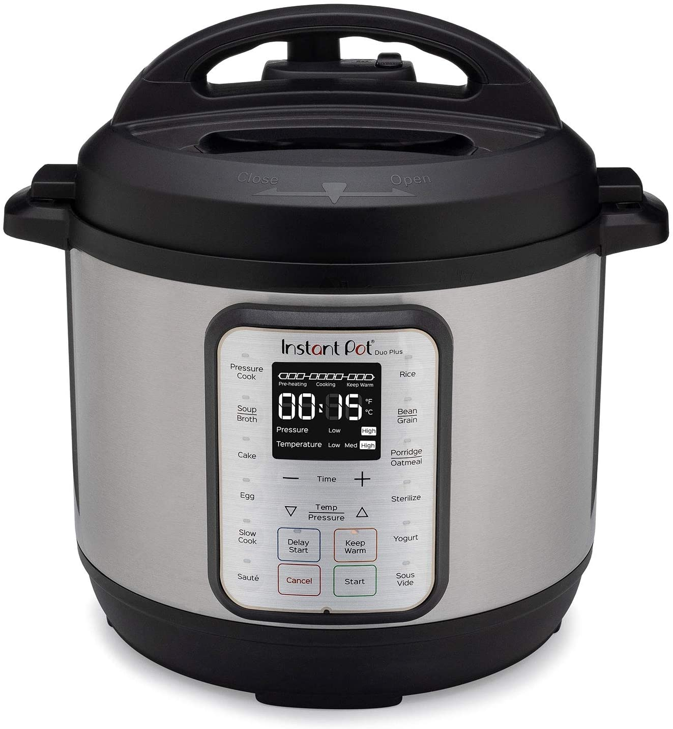 Instant Pot Duo Plus 6 Quart 9-in-1 Electric Pressure Cooker, Slow Cooker, Rice Cooker, Steamer, Sauté, Yogurt Maker, Warmer & Sterilizer, 15 One-Touch Programs