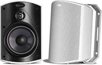 Best Polk Audio Atrium 5 Outdoor Speakers with Powerful Bass (Pair, White), All-Weather Durability, Broad Sound Coverage, Speed-Lock Mounting System Review