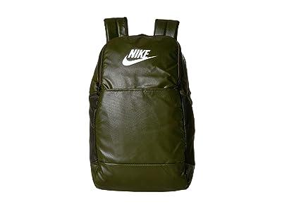 Nike Brasilia Medium Training Backpack 9.0 (Cargo Khaki/Cargo Khaki/White) Backpack Bags