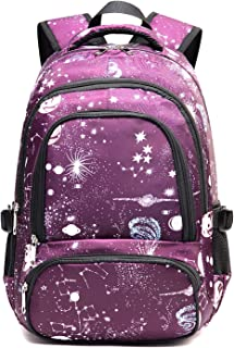 Girls Backpack for Teens Elementary School Bags LightweightMiddle School Bookbags (Purple)