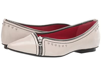 Marc Jacobs The Zipper Flat (Off-White) Women