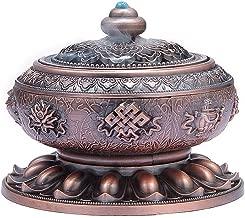 MEDOOSKY Incense Holder Burner Tibet Lotus Copper Alloy(Stick/Cone/Coil Incense)