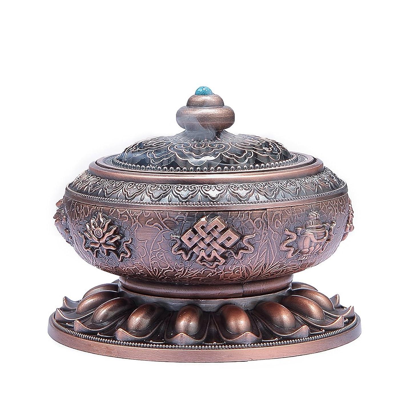 収入怒っている圧縮MEDOOSKY Large Incense Holder Burner Tibet Lotus Copper Alloy( Stick/ Cone/ Coil Incense)