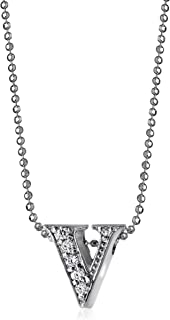 Little Letters Diamond and 14k White Gold Pendant Necklace