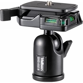Velbon 自由雲台 QHD-43DN 小型 底面径38mm DIN規格クイックシュー対応 アルミ製 475213 ブラック