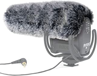 YOUSHARES Microphone Deadcat Windscreen - Outdoor Wind Shield Mic Windshield Muff Fur Custom Fit for Rode VideoMic Pro Camera Microphone