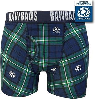 Bawbags Scotland Rugby Tartan Cotton Boxer Shorts