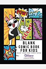 Blank Comic Book for Kids: Make Your Own Comic Book, Draw Your Own Comics, Sketchbook for Kids and Adults: 1 Paperback