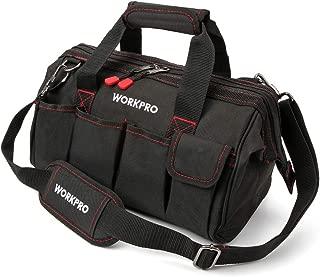 WORKPRO 14-inch Tool Bag, Multi-pocket Tool Organizer with Adjustable Shoulder Strap, W081021A