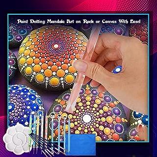 Iulove 20x Pattern Dotting Tools Set Stone Painting Kit Pen Brushes Stencil Drawing Art,Mandala Dotting Tools Set Rock Painting Kit Pen Brushes Stencil Drawing Art