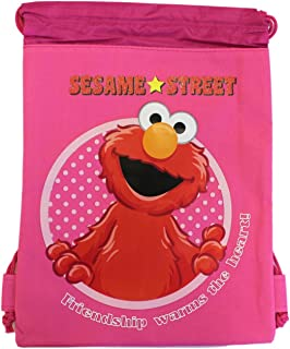 SmallピンクElmo Drawstring bag?–?Girls Elmo Drawstringバックパック