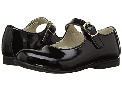 FootMates Laura (Toddler/Little Kid) (Black Patent) Girls Shoes