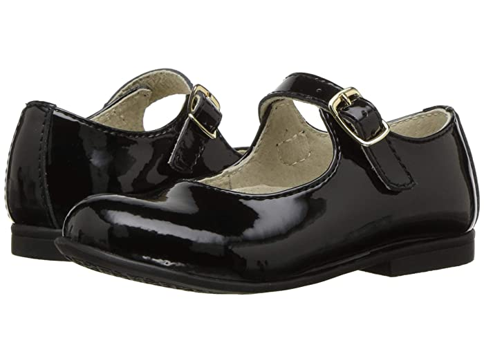 1930s Childrens Fashion: Girls, Boys, Toddler, Baby Costumes FootMates Laura ToddlerLittle Kid Black Patent Girls Shoes $59.95 AT vintagedancer.com