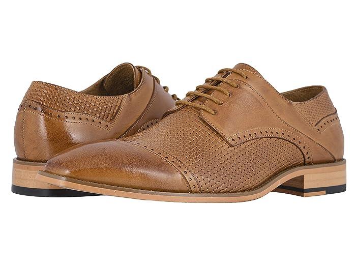1930s Men's Shoe Styles, Art Deco Era Footwear Stacy Adams Vilas Cap Toe Oxford $78.75 AT vintagedancer.com