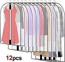 BREEZO Pack de 6 PEVA a prueba de fundas para la ropa bolsa para ropa 2pcs 60*100cm +2pcs 60*120cm +2pcs 60*137cm Fundas Full cremallera bolsa para traje lavable transparente funda para vestidos