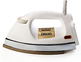 Usha EI 3710 Heavy Weight 1000-Watt Dry Iron, 1.75 Kg(White)
