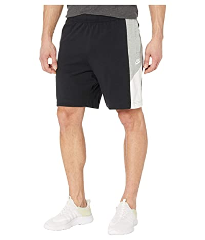 Nike NSW Shorts Jersey Color Block (Black/Dark Grey Heather/Sail/White) Men
