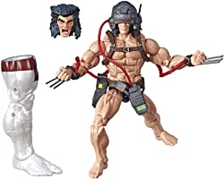 """Marvel Hasbro Legends Series 6"""" Collectible Action Figure Weapon X Toy (X-Men Collection) – with Caliban Build-A-Figure Part"""