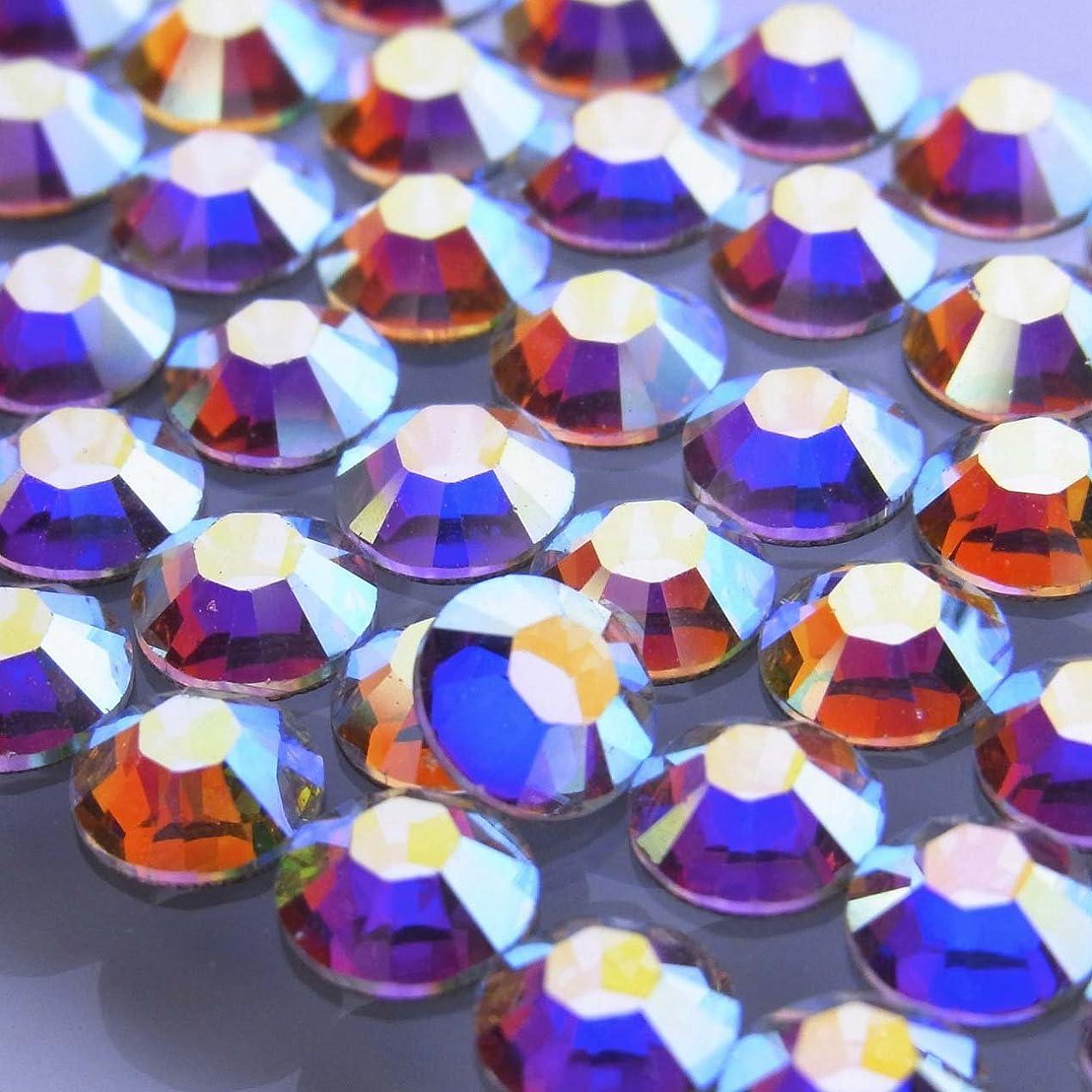 エクスタシー有名靄Hotfixクリスタルオーロラss16(100粒入り)スワロフスキーラインストーンホットフィックス