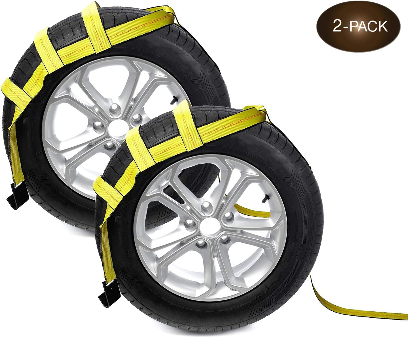 DC Cargo Mall Philadelphia Mall Tow Dolly Basket Straps Be super welcome 2-Pack with Hooks Flat