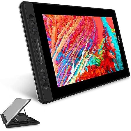 HUION液タブKamvas Pro13 Chrome OS 88.0以上でお使える液晶タブレット 傾き検知機能付き 筆圧8192充電不要ペン フルラミネートスクリーンアンチグレアガラス搭載 13.3インチフルHD液タブ Adobe RGB92%