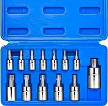 Neiko 10071A Torx Bit Socket Set, Metric, T8-T60 | 13-Piece Set, S2 and Cr-V Steel,..
