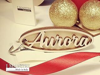 Portachiavi in legno personalizzato con nome o parola a scelta da indossare o per fare un regalo originale a Natale - I MA...