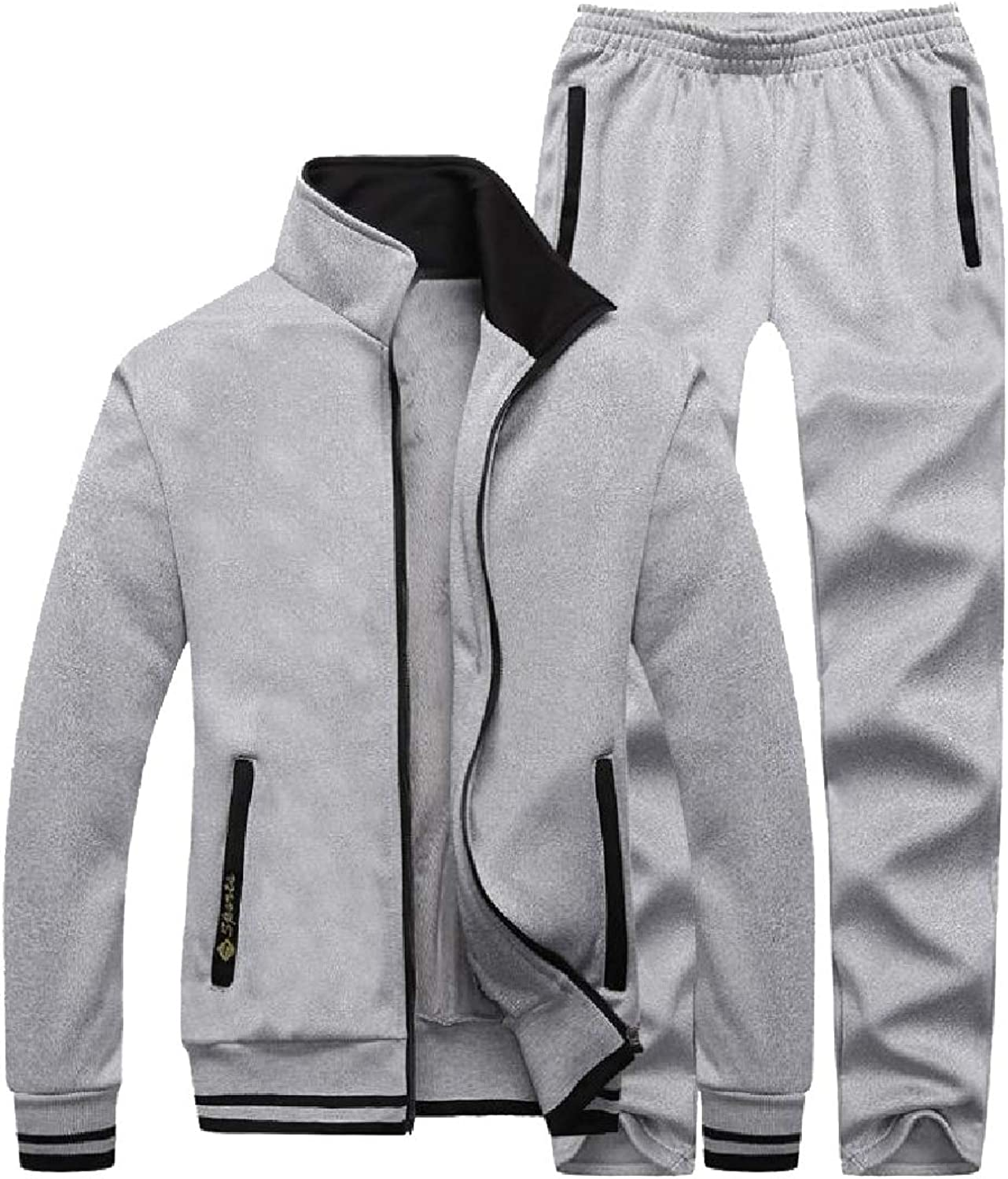 FieerMen Big and Tall LooseFit Fleece Lined Daily Tracksuit Set